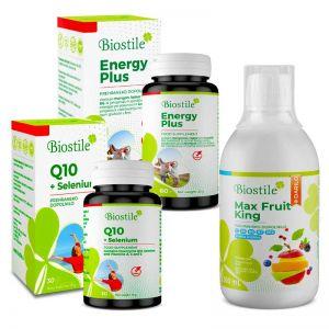 Biostile ENERGY PLUS + Q10+SELENIUM + MAX FRUIT KING Saft
