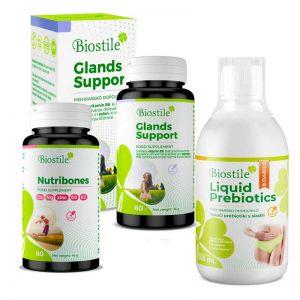 Glands Support, Nutribones i  Liquid Prebiotics