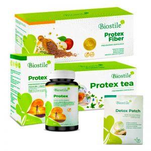 Protex Komplett | Protex Ballaststoffe, Kapseln und Tee + Detox-Patches verschenken